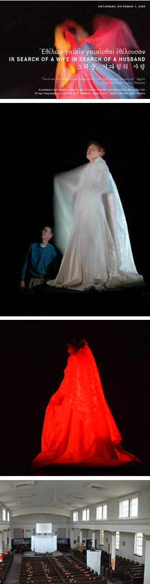 John Shipman, In Search of a Wife in Search of a Husband, Nuit Blanche 2009