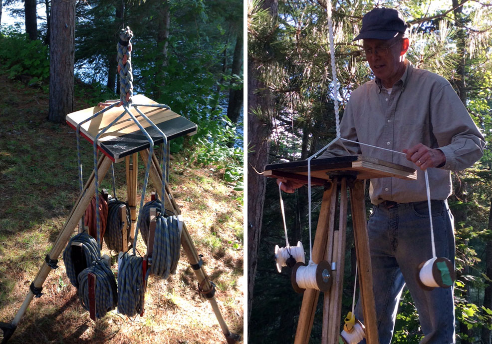 John Shipman braiding story ropes for Nuit Blanche 2015