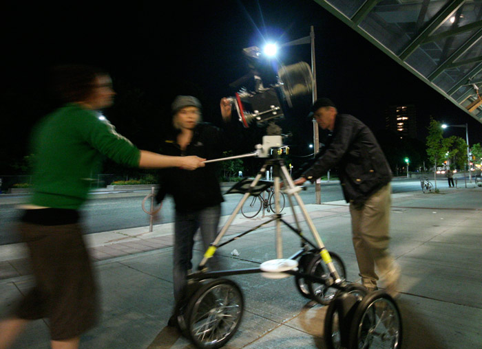John Shipman, shooting camera-in-motion video for The Temptations of St. Clair, 2008