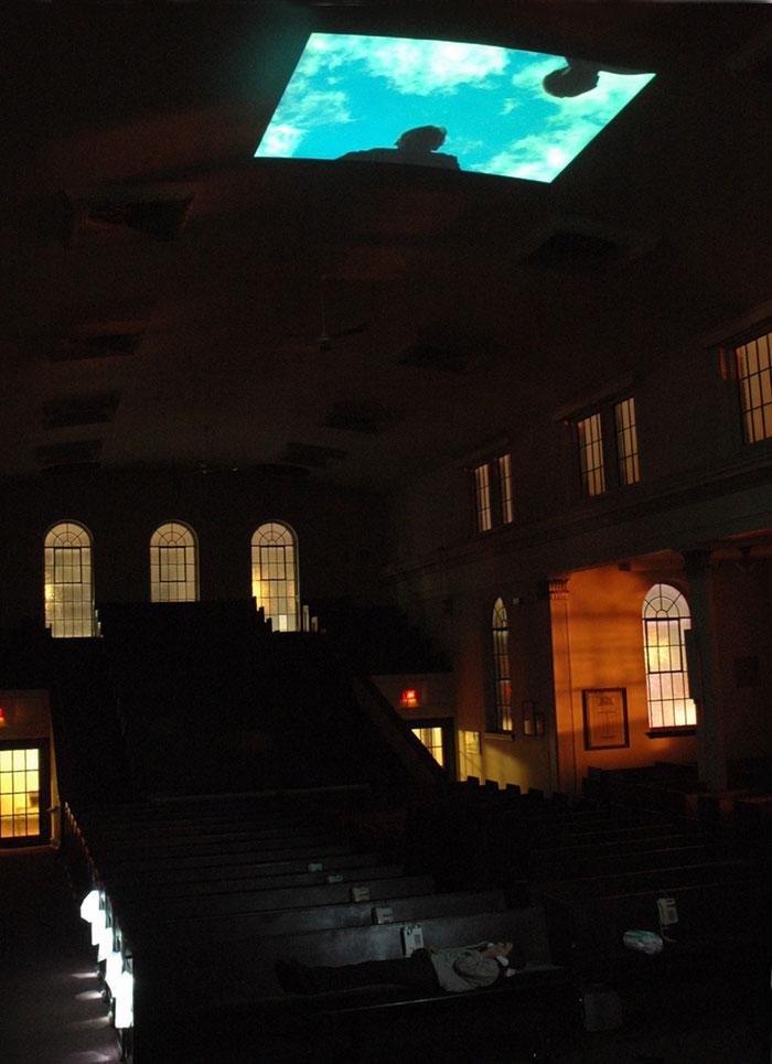 John Shipman, installation shot of All Night Long I Mourned Myself, 2010