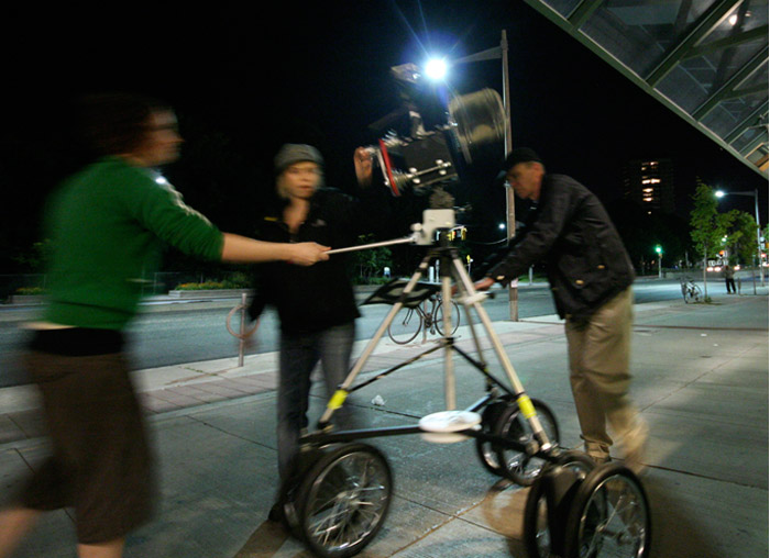 John Shipman, shooting NLAT video with a camera-in-motion, 2007-2010
