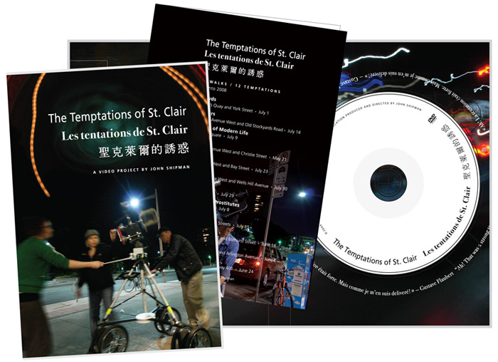 John Shipman, Temptations of St. Clair dvd project, 2009