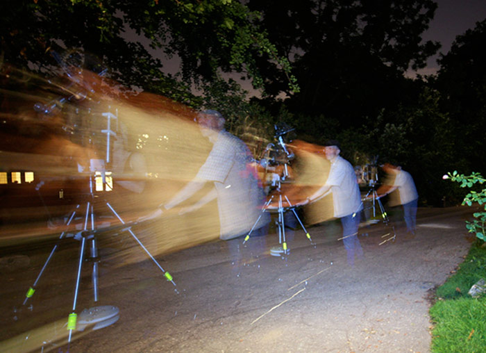 John Shipman shooting video with a camera-in-motion, 2008