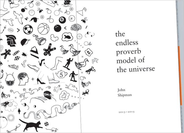 John Shipman, title page spread (detail) for The Endless Proverb, 2015